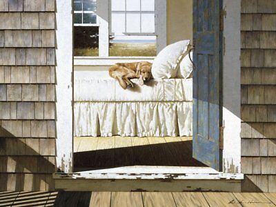 Home Again by Zhen-Huan Lu Seascape Beach Poster 11x14 DOG COASTAL ART PRINT