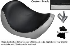 BLACK & LIGHT GREY CUSTOM FITS HARLEY DAVIDSON V-ROD VRSC 01-09 FRONT SEAT COVER