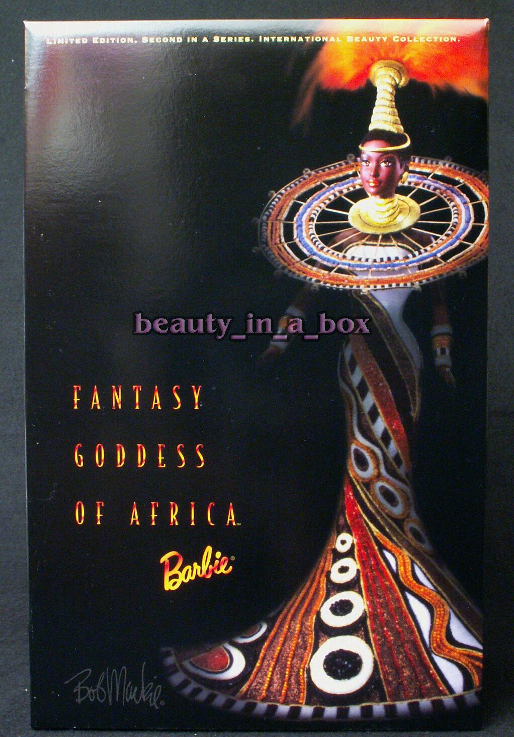 Diosa de África Barbie muñeca de fantasía en la belleza del remitente Bob Mackie International