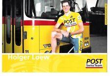 CYCLISME carte  cycliste HOLGER LOEW équipe POST SWISS TEAM