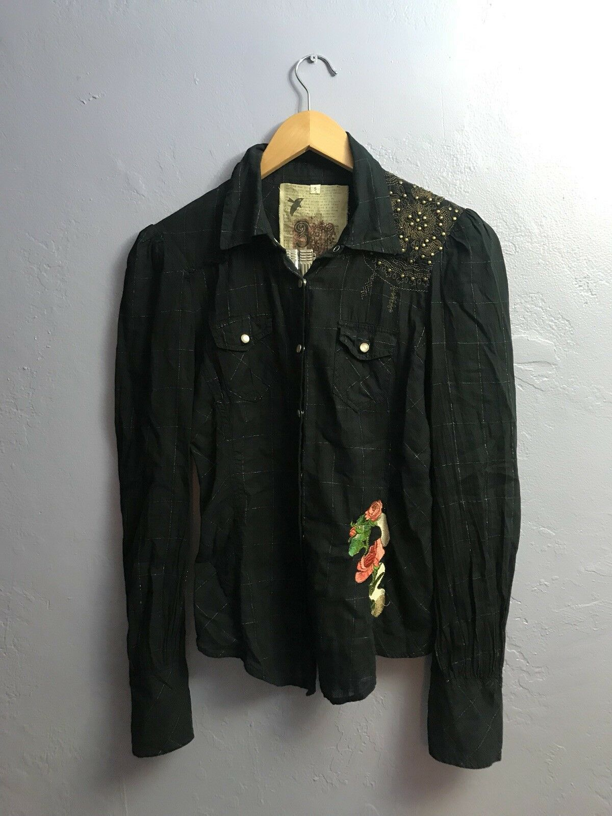 Johnny Was 3J Workshop Embroiderot Channing Shirt Button Up Blouse Größe S