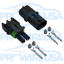 Delphi Weather Pack 2 Pin Sealed Connector Kit 16-14 GA