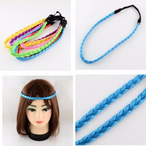 Haarschmuck Haarbänder Headband Hairband geflochten braided Kunsthaar blond