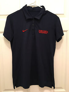 Virginia-UVA-Cavaliers-Women-039-s-Basketball-Team-Issued-Nike-Blue-Polo-Small