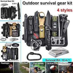 Camping Survival Gear Kit Outdoor Tactical Hunting Emergency SOS EDC Tools Box