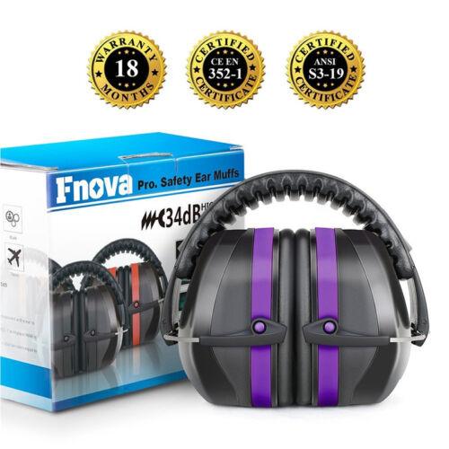 Purple Ear Muffs Hearing Protection Gun Shooting Range Loud Noise Reduction 34dB