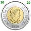 2020-New-Canada-Toonie-2-Dollars-BU-Coin-Polar-Bear-Bi-Metallic-UNC-2020 thumbnail 1