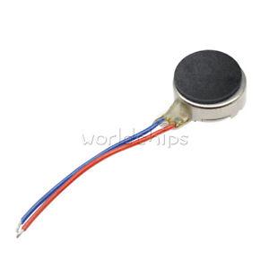 2PCS DC 3V 8*3.4mm Pager Phone Coin Flat Vibrating Vibration Micro Mini Motor