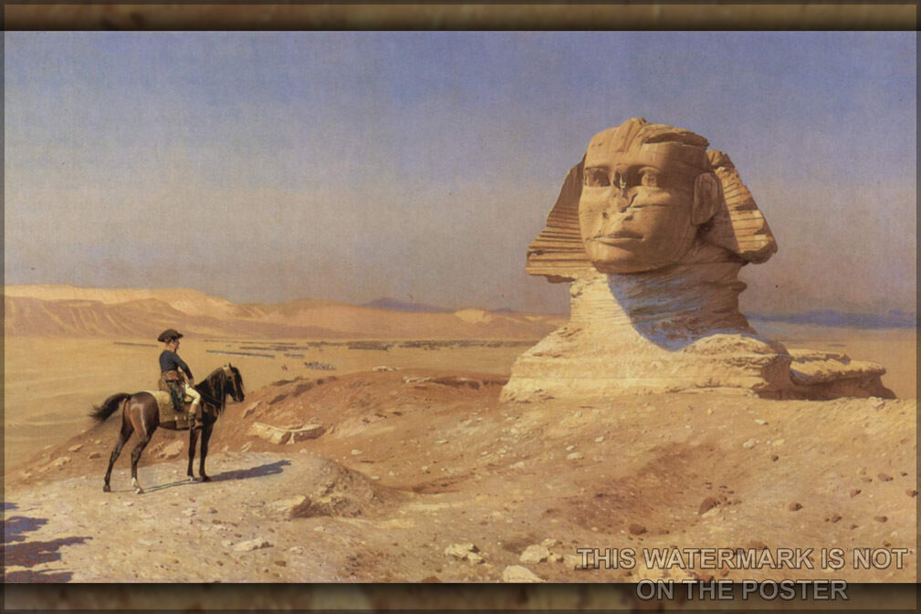 Poster, Many Größes; Napoleon Bonaparte Before The Sphinx, (Ca. 1868) By Jean-Léo