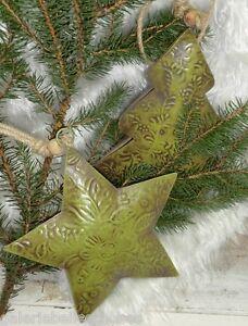 stern oder tannenbaum aus metall gr n weihnachten landhaus. Black Bedroom Furniture Sets. Home Design Ideas