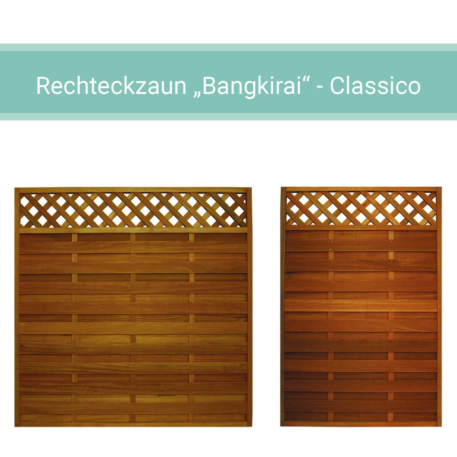 Bangkirai Holz Rechteckzaun Lamellenzaun Zaun 10 Elegant Gunstig Kaufen Ebay
