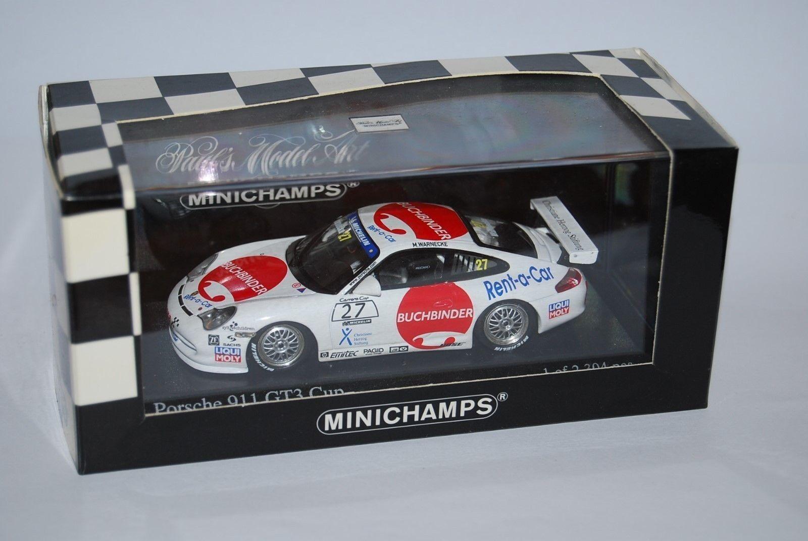 MINICHAMPS PORSCHE 911 GT3 CARRERA CUP 2004 400046227 NEUF BOITE NEW BOX 1 43