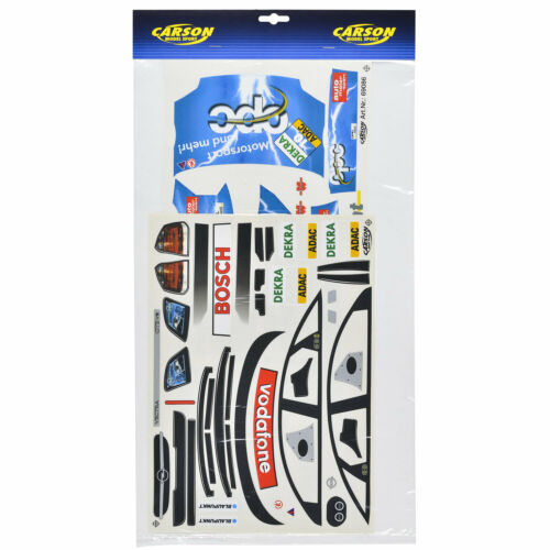 RC Car Car Body 1:10 Unpainted Vauxhall Vectra GTS Decal Sheets OPC Reuter 13663