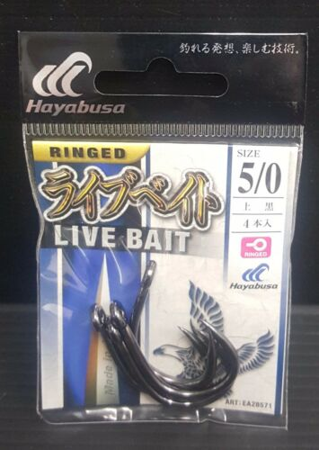 2packs Hayabusa Live Bait Fishing Hook Freshwater Saltwater  Choose Size