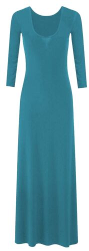 New Ladies Flared Long Bodycon Maxi Dress 8-26