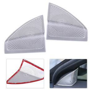 2pcs Inner Door Speaker Edge Cover Trim For Benz C-Class W205 2014-2015