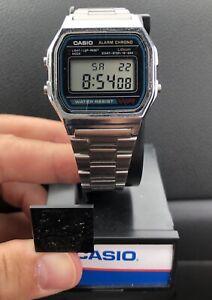Vintage-Casio-A158W-Sport-World-Time-Alarm-Water-Resist-Mens-Watch-Works