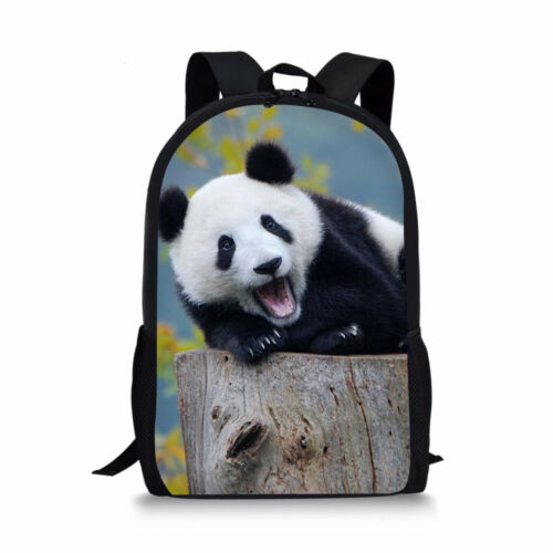 Animal Panda Designs School Backpack Women Girls Shoulder Bookbag Daypacks Bags