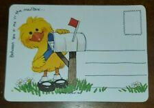 "cute duck with dandelion /""H/'lo!/"" Vintage Suzy/'s Zoo post card"