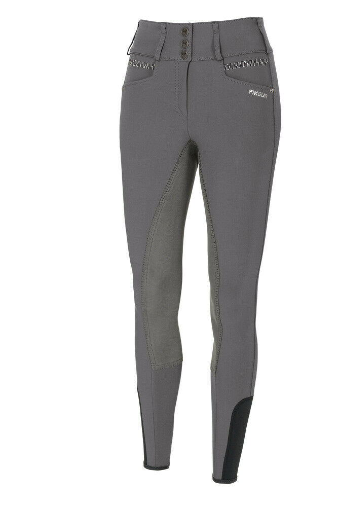 NEW  Pikeur Candela Strass Full Seat Breeches Light Grey Sizes 8 - 18