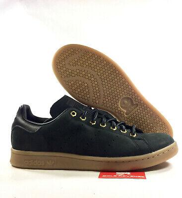 super popular 14f4a 2357e adidas Mens Originals STAN SMITH WP SHOES B37872 Waterproof CORE BLACK  CARBON a1 | eBay