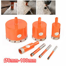 6mm 100mm Diamond Holes Saw Drill Bit Cutter Tool For Tile Glass Marble Stone