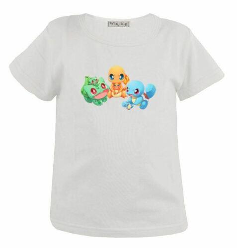 Pokemon Squirtle Bulbasaur Charmander Kid Gift Boy Girl Short Sleeves T-Shirt