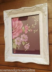 Shabby Chic Ornate A4 Certificate Frame Black Ivory Gold Silver Or