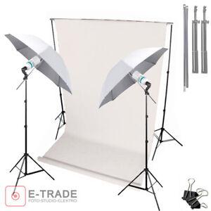 Details about Photo Studio Backdrop Continuous Lighting Kit Umbrella  Background Stand Set