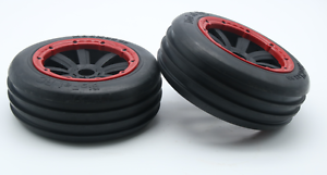 Front Twin Blade Wheel Tires 2pcs for HPI Baja 5B