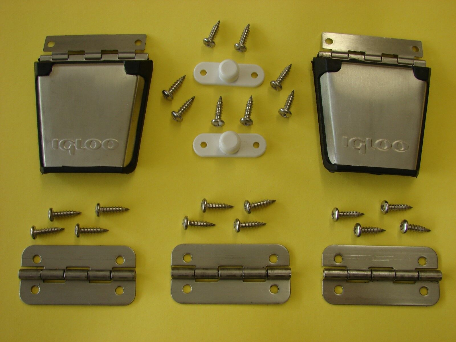 Igloo Stainless Steel Metal Cooler Replacement Hinges (3) & Latches(2)