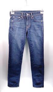 Levi's 511 W28 L32 blau Damen Jeans Hose Denim Designer Mode USA Retro Vintage