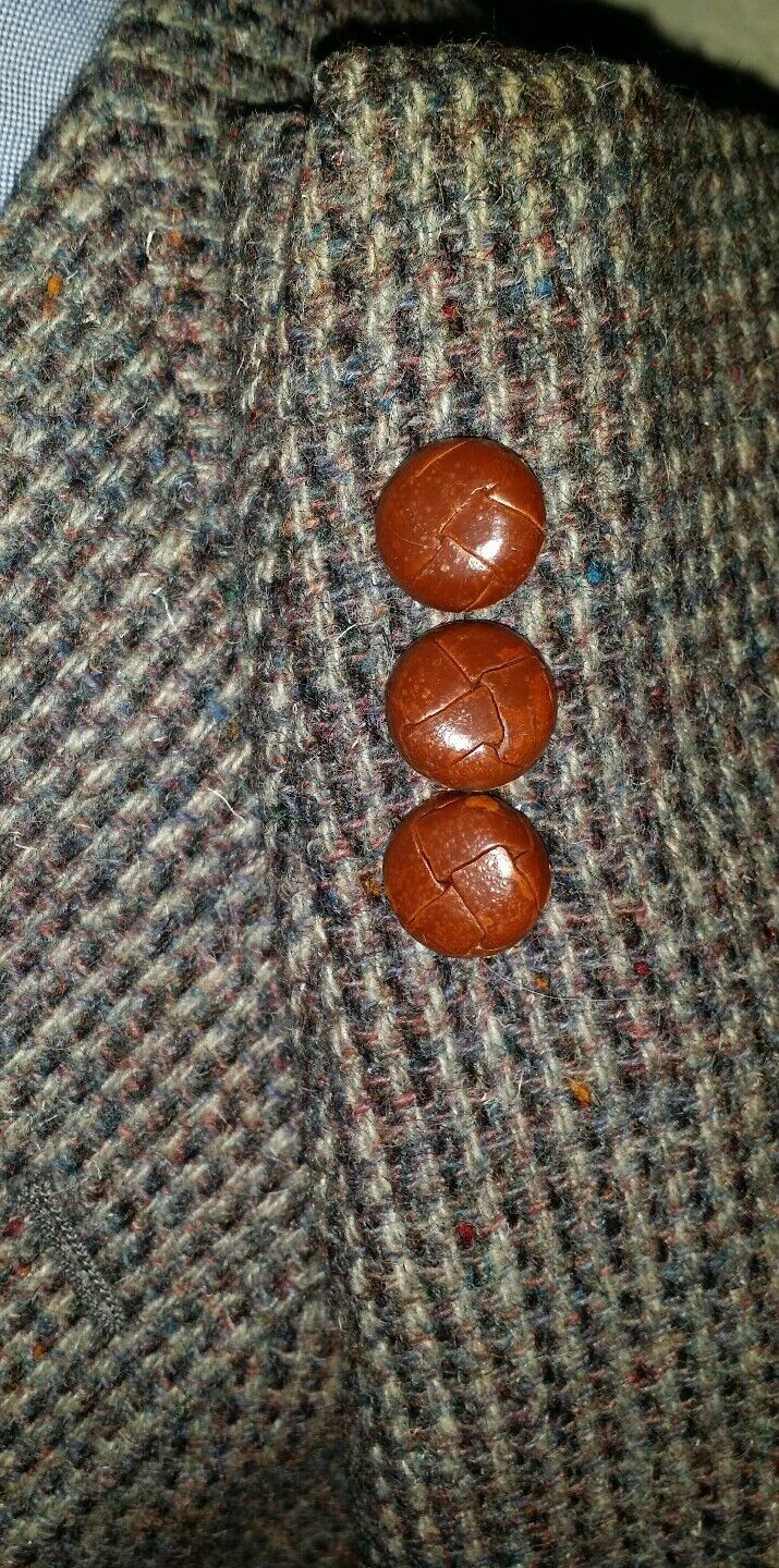 40S Evan PiconeFleck Tooth Check Tweed Knot HAIRY Sport Jacket Blazer donegal