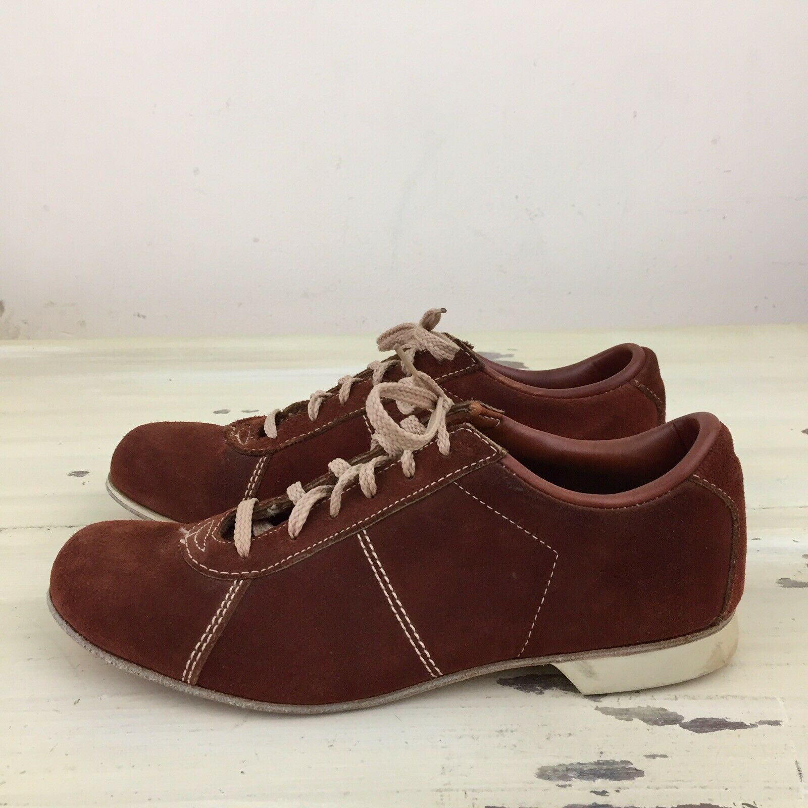 HYDE BOWLING SHOES - Vtg 60s-70s Brown Suede Leather, Womens Sz 9 - MUST SEE