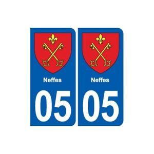 05 Neffes Blason Ville Autocollant Plaque Stickers
