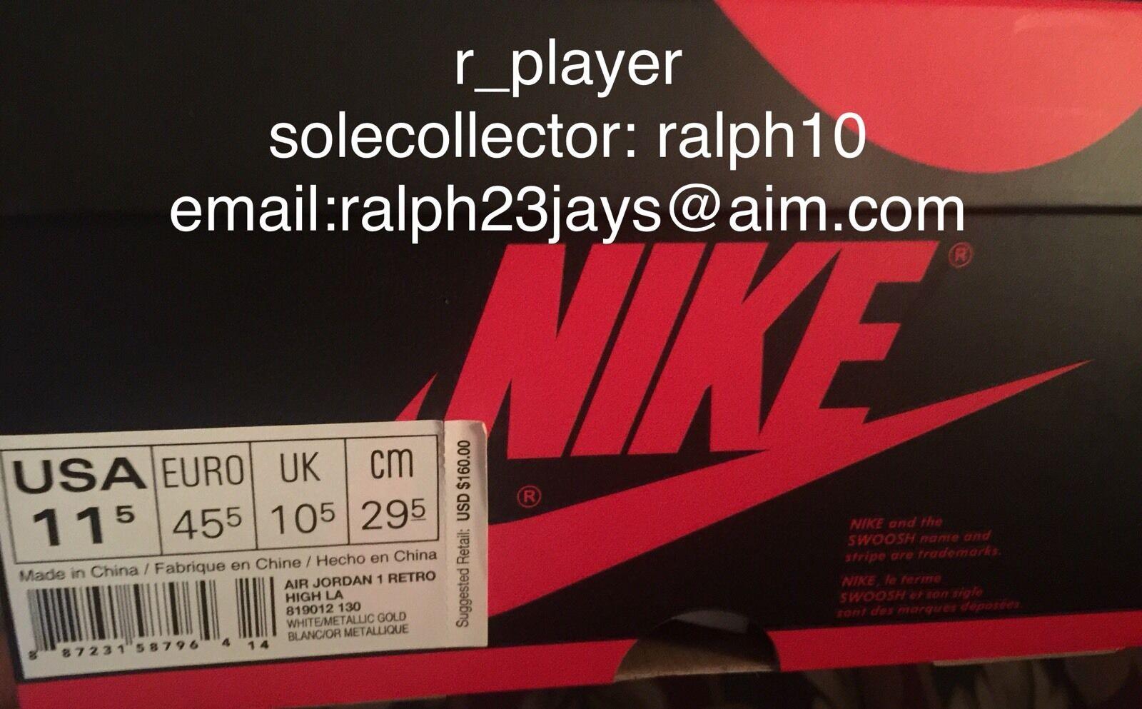Nike Air Jordan 1 Retro High OG 23 LA/Los Angeles 819012-130 Sz 11.5 DS