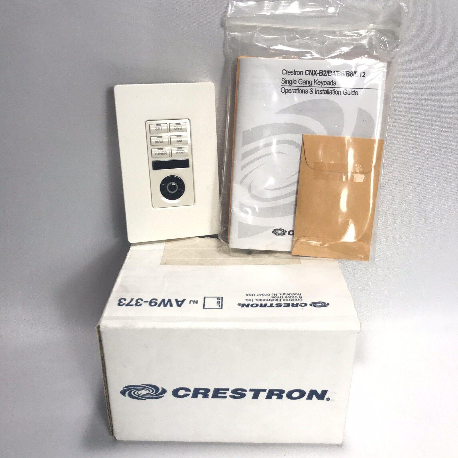 Creston Single Gang Keypad CNX-B6 6 Button Scroll Wheel White In Box