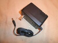 Ac Dc Power Supply Adaptor Cord Input:120v Ac .3a To Output:12v Dc 800ma