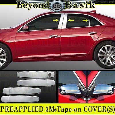 2013-2015 Chevy Malibu 6Pc Chrome Pillar Post Stainless Steel Trim Door Cover