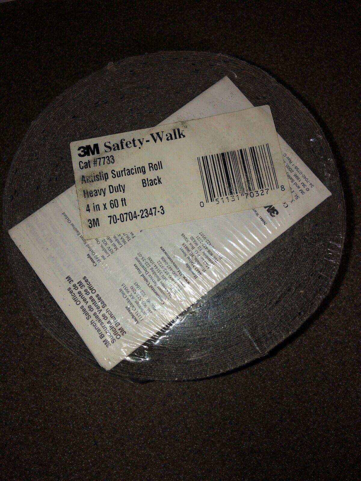 7733 4-Inch by 60-Foot Roll Black 3M Safety-Walk Heavy Duty Tread