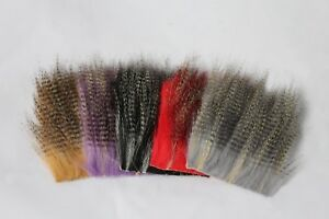 5pcs-8-8cm-Furabou-Craft-Fur-Barred-Colors-Streamer-Tail-Wing-Fly-Tying-Material