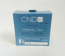 size 3 /50 refill CND Creative VELOCITY French WHITE NAIL TIPS / Acrylic UV Gel