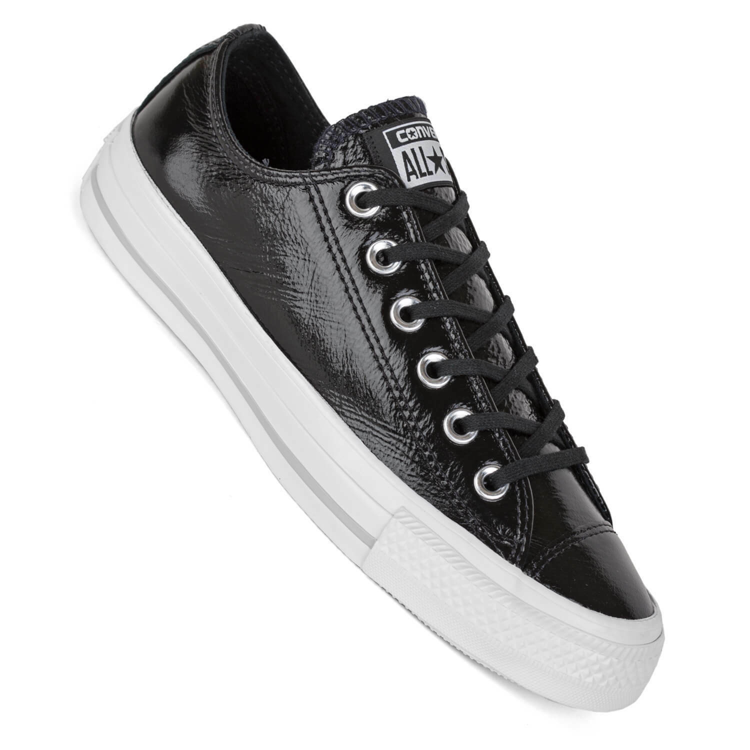 Converse señora Chuck lo negro brillante ctas Ox patente Leather 5580002c