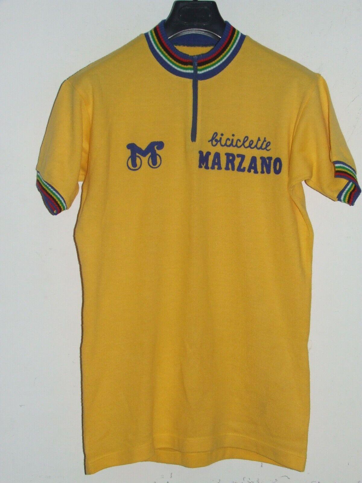 Jersey Fahrrad Jersey Maillot Radfahren Eroica Vintage 70'S Marzano 50% Wool