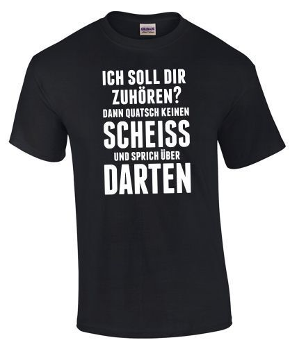 T-shirt Fléchettes écouter conneries pas de conneries sort Marrant drôle Dart Fléchettes