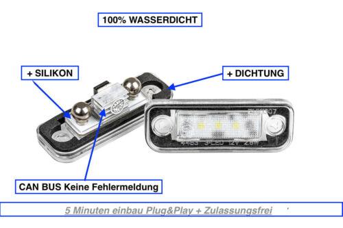 2x LED License Plate Light Mercedes E-Class W211 Limo E 270 CDI 1103