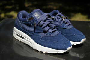 Nike Air Max 1 London Cloth Company Lux Supreme Navy Gold Canvas