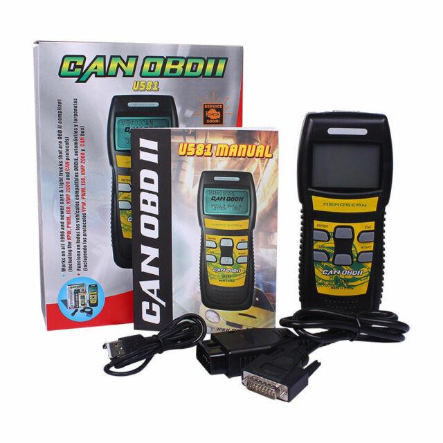 Car Engine Fault Diagnostic Scanner Auto Code Reader OBD2 CAN BUS Scan Tool U581
