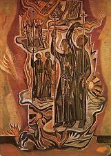 Alte Kunstpostkarte - Fresko von Jaap Min - Apostel der letzten Zeiten