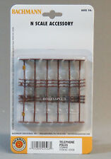 Bachmann N Scale Telephone Poles 12 Pcs 42506 For Sale Online Ebay